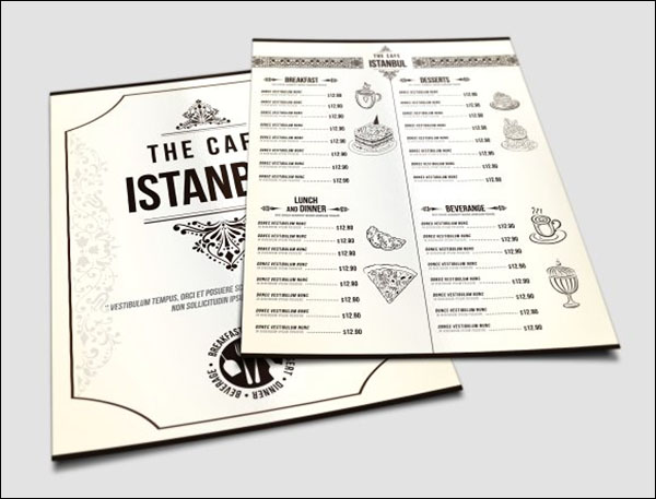 Cafe Menu Pack Templates