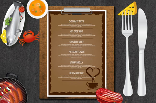 Cafe and Restaurant Menu Templates