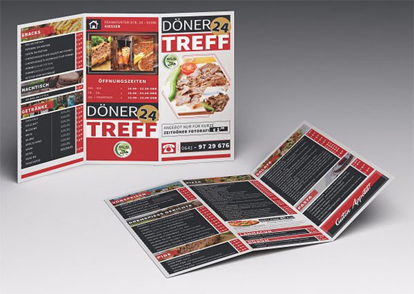Cafe and Restaurant Trifold Menu Template