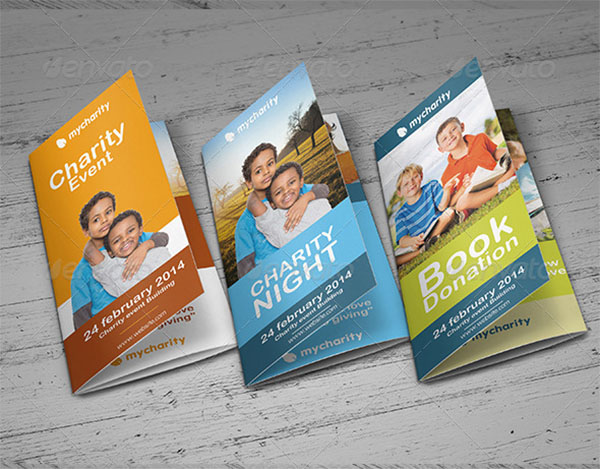 Charity Event Trifold Brochure Templates