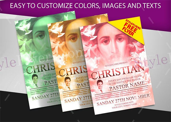 Christian Free PSD Flyer Template