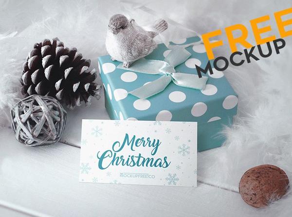 Christmas Free PSD Mockup