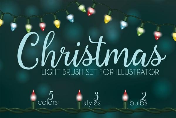 Christmas Light Brushes for Illustrator