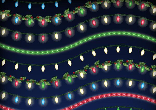 Christmas Lights Brushes Set