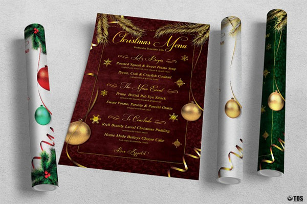Christmas Menu Design Templates