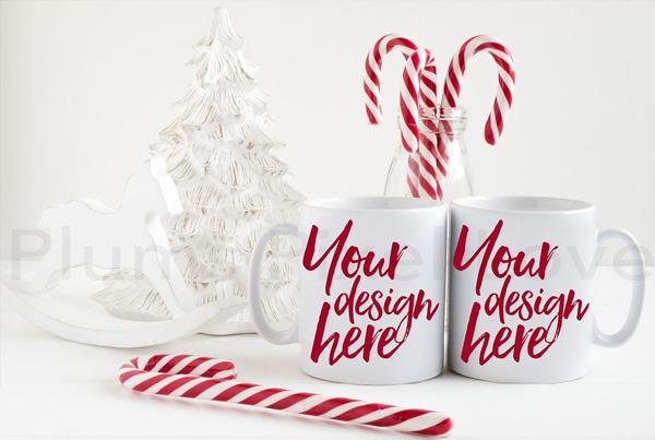 Christmas Styled Stock Mug Mockups