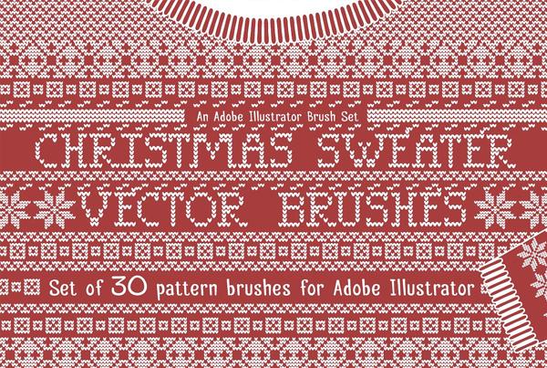 Christmas Sweater Knit Photoshop Brushes