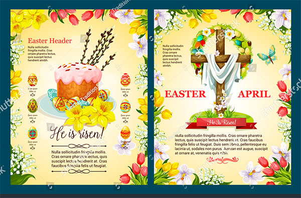 Church Easter Flyer Template