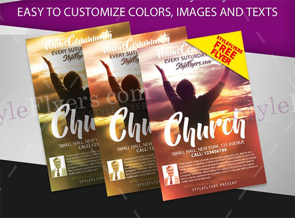 Church Free PSD Design Flyer Template