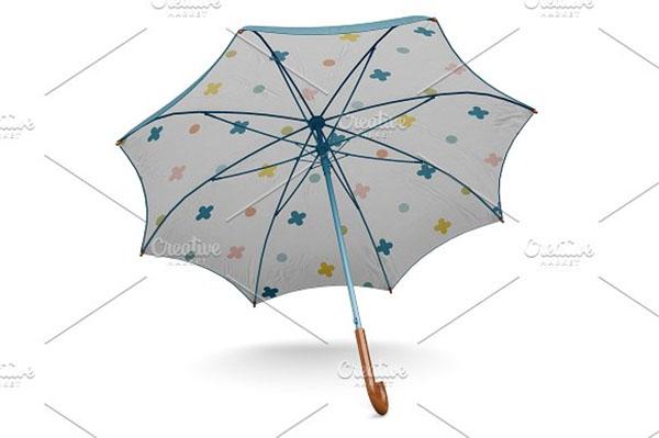 Classic Umbrella Open Mockup