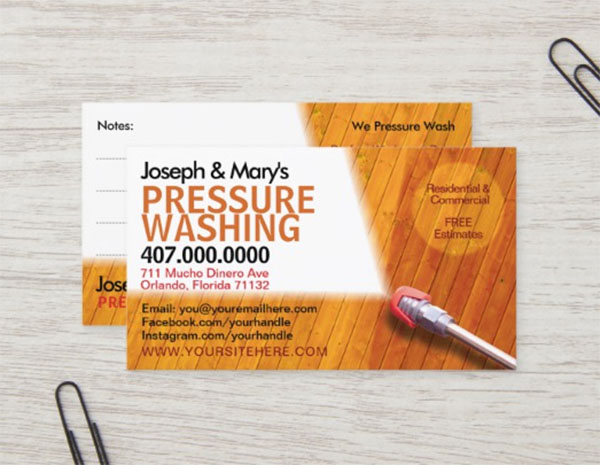 Cleaning Business Card Template Designs