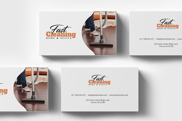 Cleaning PSD Business Card Template
