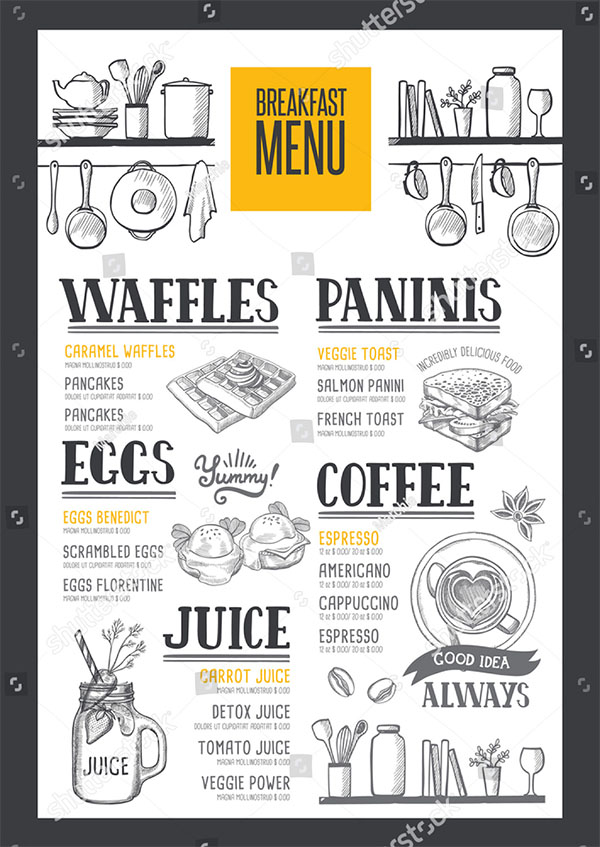 Coffee Food Menu Template