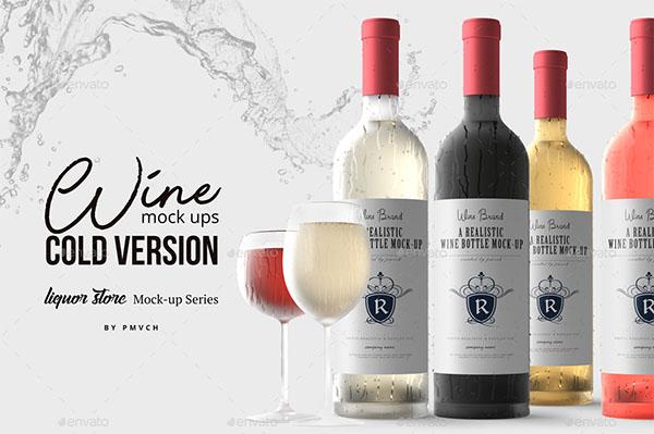 Cold Version Wine Mockup Template