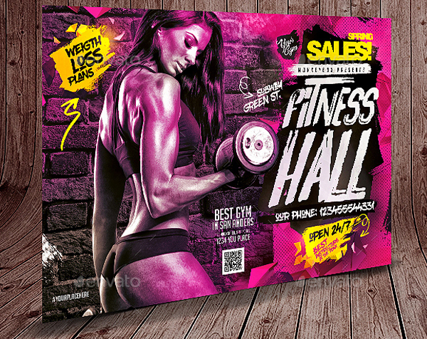 Colorful Fitness Flyer Template