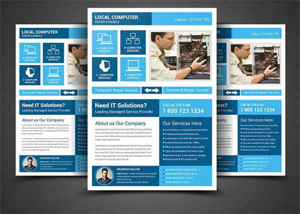 28 computer repair flyer templates free photoshop vector downloads