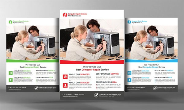 Computer Repair Service PSD Flyer Design