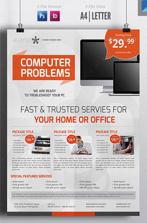 Computer Service Flyer Template
