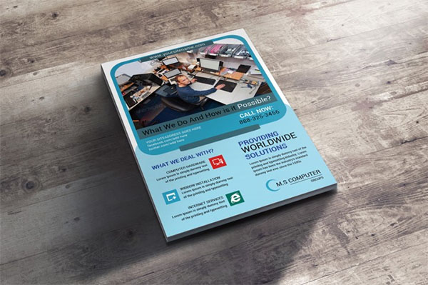 Computer and Mobile Repairing PSD Flyer Template