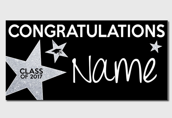 Congratulations Graduate Party Star Banner