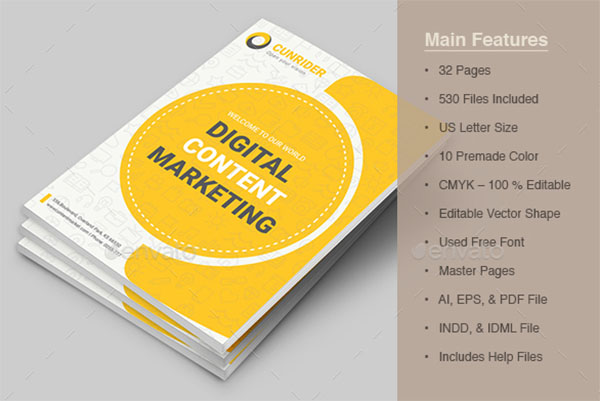 Content Marketing Brochure Template