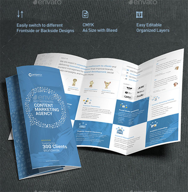 Trifold Best Marketing Brochure Templates