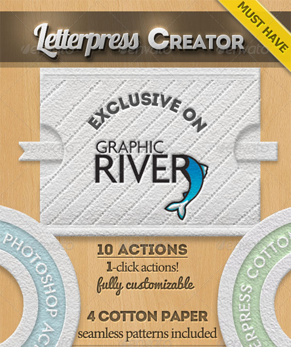 Cotton Letterpress Style Photoshop Creator