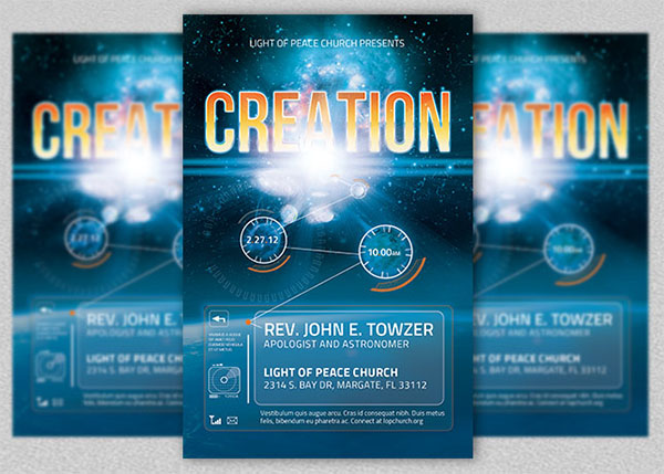 Creation PSD Church Flyer Template