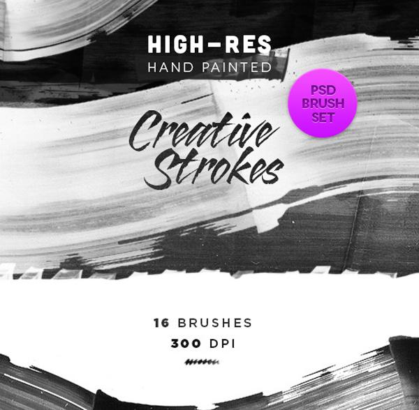 Creative Artistic Ink Brush Strokes