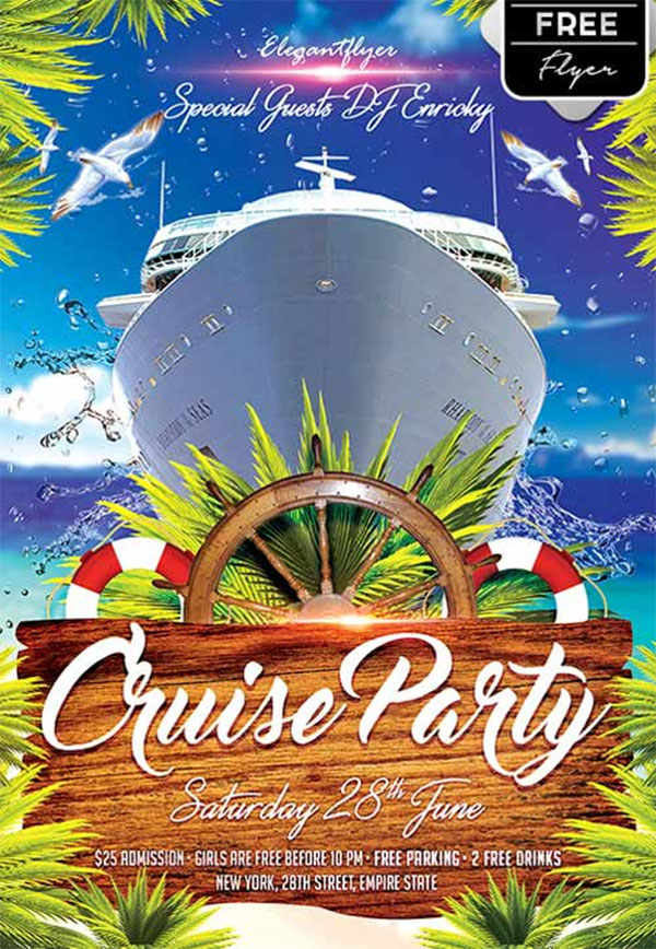 Cruise Party Free Flyer Template