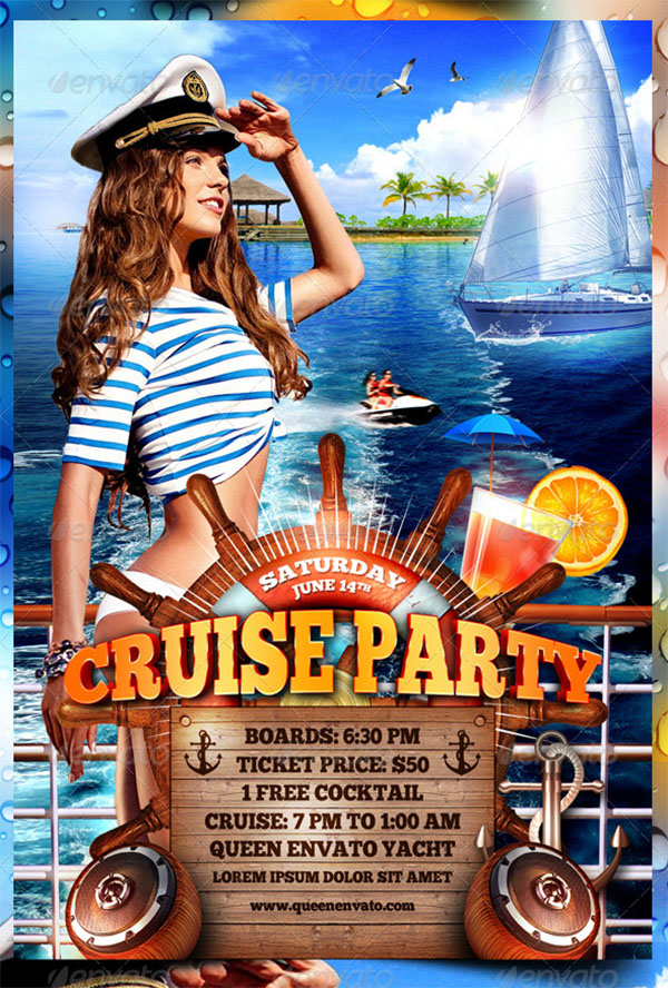 Cruise Party PSD Flyer Template