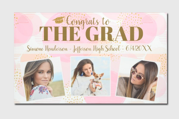 Custom Graduation Party Banner Template