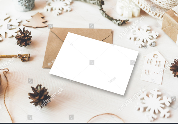 Cute Vintage Christmas New Year Gifts Mockup