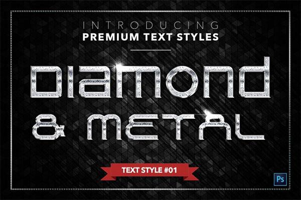 Diamond PSD Metal Text Styles