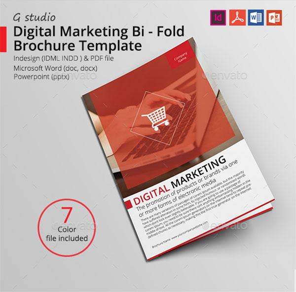 Digital Marketing Bi-Fold Brochure Template