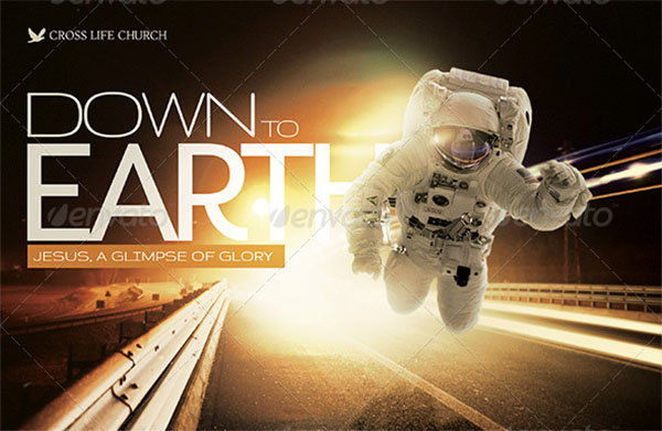 Down to Earth Church Flyer Template