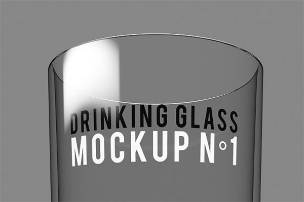 Drinking Glass Mockup Template