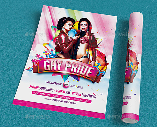 Easily Editable Gay Pride Flyer Template