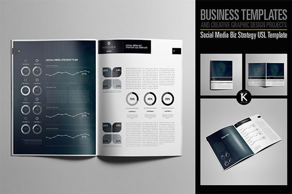 Editable Social Media Marketing Brochure Template
