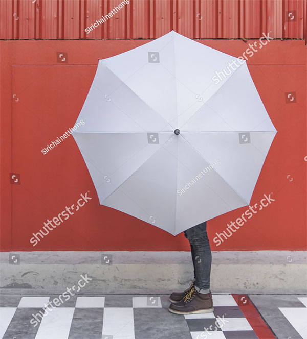 Editable Umbrella Mockup Template