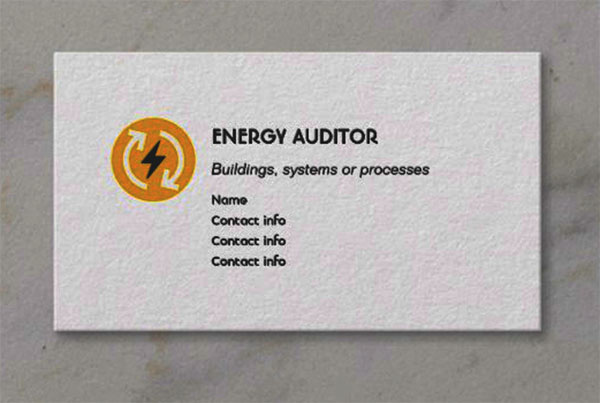 Energy Auditor Business Card Template