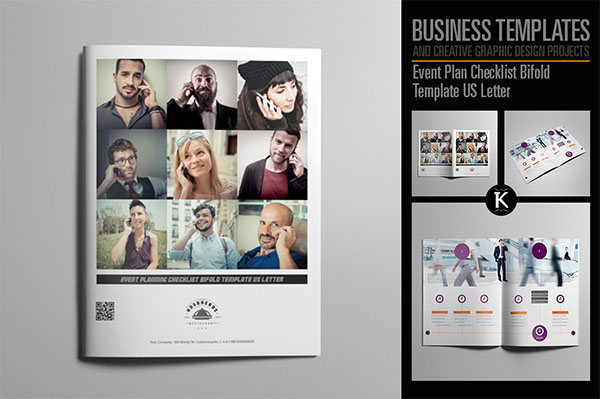 Event Plan Checklist Bifold Design Template