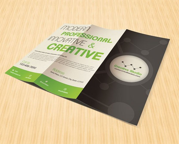 Example Marketing Trifold Brochure Template