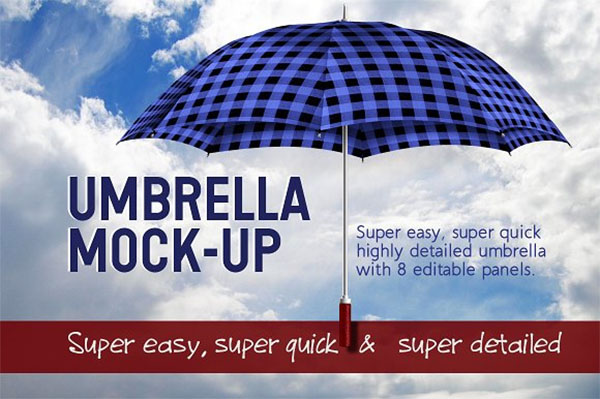 Fabric Panel Umbrella Mockup