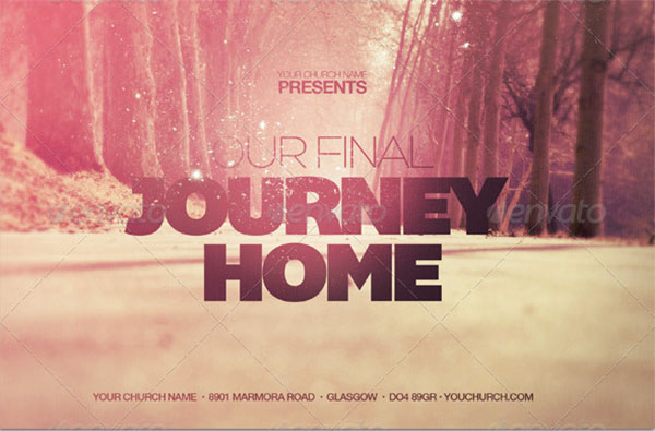 Final Journey Home Church Flyer Template