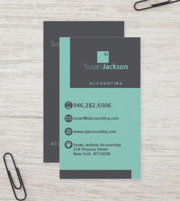 Best Financial Adviser Auditor Business Card