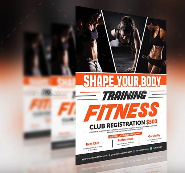 Fitness Training Flyer