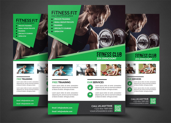 Fitness and Gym Club Flyer