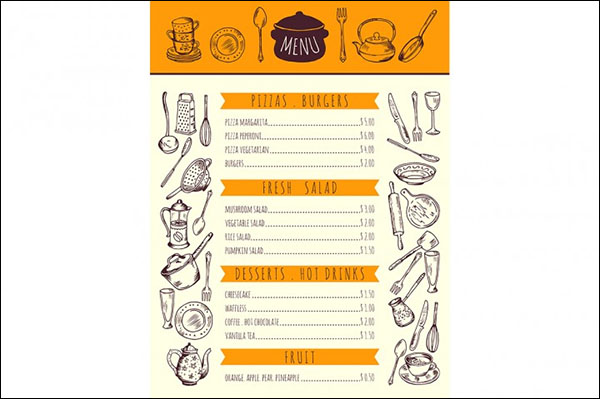 Food Menu Kitchen Template
