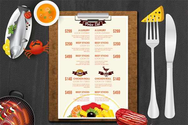 Food and Restaurant Menu Templates